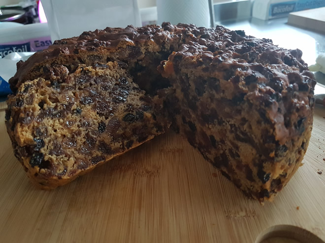 Fruit Cake with 3 ingredients